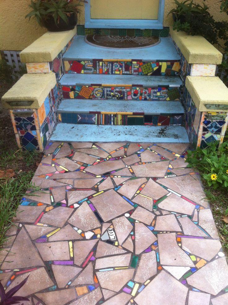 Мозаичная дорожка из плитки